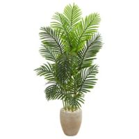 Nearly Natural 5-Foot Artificial Paradise Palm Tree with Sand Planter