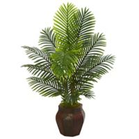 Nearly Natural 4.5-Foot Artificial Paradise Palm Tree in Planter