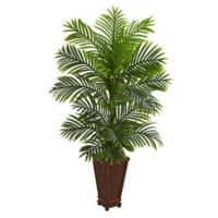 Nearly Natural 5-Inch Kentia Palm Tree in Decorative Planter