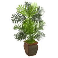 Nearly Natural 36-Inch Artificial Paradise Palm Tree with Brown Planter