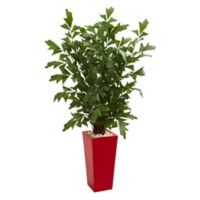 Nearly Natural™ 4.5-Foot Fishtail Palm Tree in Red Tower Planter