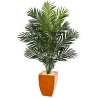 Nearly Natural Paradise 5.5-Foot Palm Tree in Orange Planter