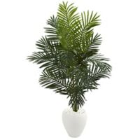 Nearly Natural Paradise 5.5-Foot Palm Tree in White Planter