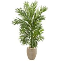 Nearly Natural 5-Foot Artificial Areca Palm Tree in Planter