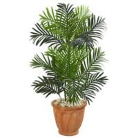 Nearly Natural 3.5-Foot Paradise Palm Tree with Terra Cotta Planter