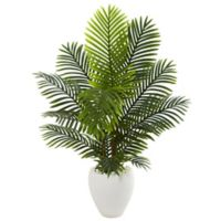 Nearly Natural 54-Inch Paradise Palm Tree with White Planter