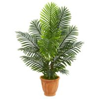 Nearly Natural 54-Inch Paradise Palm Tree with Terra Cotta Planter