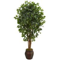 Nearly Natural 72-Inch Ficus Artificial Tree in Decorative Planter