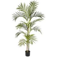 Nearly Natural 54-Inch Artificial Areca Palm Silk Tree with Planter