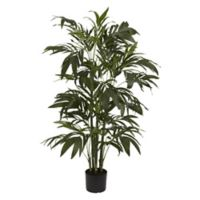 Nearly Natural 4-Foot Artificial Bamboo Palm Tree in Planter