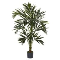 Nearly Natural 72-Inch Kentia Artificial Tree with Black Planter
