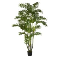 Nearly Natural 60-Inch Biggy Style Areca Artificial Tree with Black Planter
