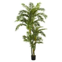 Nearly Natural 72-Inch Artificial Curvy Parlour Palm Tree