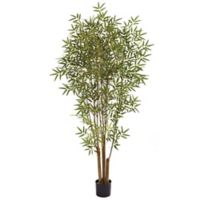 Nearly Natural 72-Inch Artificial Japanese Bamboo Tree with Black Planter