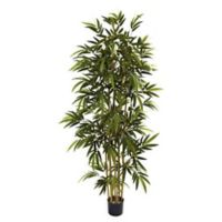 Nearly Natural 72-Inch Artifical Bamboo Tree with Planter