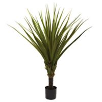 Nearly Natural 60-Inch Artificial Spiked Agave Tree with Black Planter