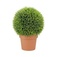 Artificial 18-Inch Two-Tone Pine Ball with Pot