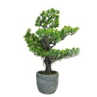 Northlight 21-Inch Japanese Bonsai Tree in Stone Pot