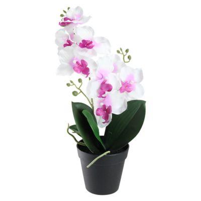 Buy silk flowers from bed bath beyond 165 inch silk orchid artificial flower arrangement mightylinksfo