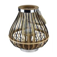 Northlight Rustic Chic Pear Shaped Rattan Candle Holder Lantern