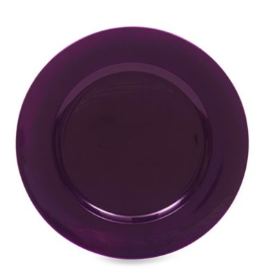 Purple Round Charger Plates (Set of 8)  sc 1 st  Bed Bath \u0026 Beyond & Buy Purple Dinnerware Sets from Bed Bath \u0026 Beyond