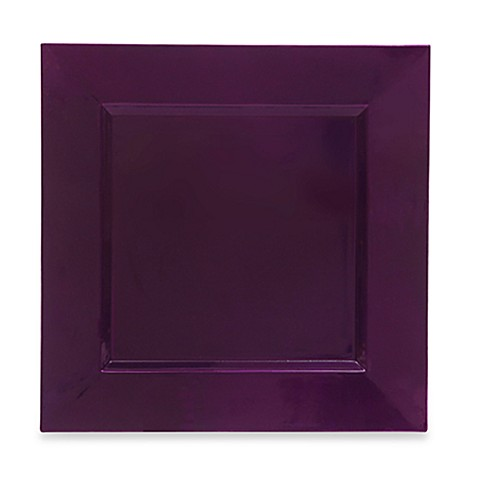 Purple Square Charger Plates (Set of 8)  sc 1 st  Bed Bath \u0026 Beyond & Charge It by Jay! Purple Square Charger Plates (Set of 8) - Bed Bath ...