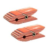 Island Bamboo Pakka Wood Bag Clips in Red (Set of 2)