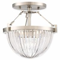 Minka Lavery Atrio 1-Light Semi Flush Ceiling Light in Brushed Nickel