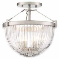 Minka Lavery Atrio 3-Light Semi Flush Ceiling Light in Brushed Nickel