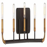 Minka Lavery® Liberty 5-Light Flushed Mount Vanity Light in Bronze