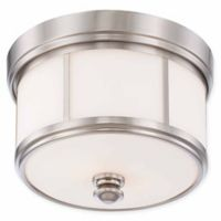 Minka Lavery Column 3-Light Flush-Mount Ceiling Fixture in Brushed Nickel