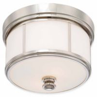 Minka Lavery Column 3-Light Flush-Mount Ceiling Fixture in Polished Nickel