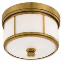 Minka Lavery Column 3-Light Flush-Mount Ceiling Fixture in Liberty Gold