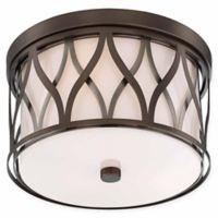 Minka Lavery® Crossed 3-Light Flush Mount Ceiling Light in Brushed Bronze