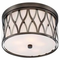 Minka Lavery® Crossed 5-Light Flush Mount Ceiling Light in Bronze