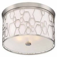 Minka Lavery® Honeycomb 4-Light Flush Mount Ceiling Light in Brushed Nickel