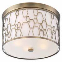Minka Lavery® Honeycomb 5-Light Flush Mount Ceiling Light in Brass