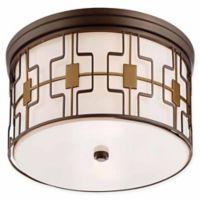 Minka Lavery City 5-Light Flush-Mount Ceiling Light in Brushed Bronze