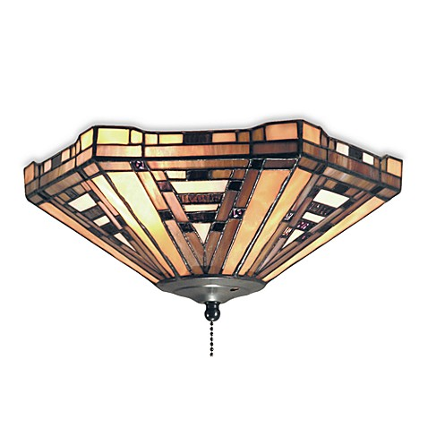 Elk lighting american art 2 light fan kit ceiling mount in for American classic lighting