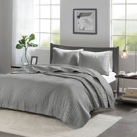 Madison Park Keaton King Coverlet Set in Grey