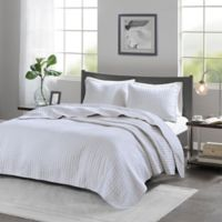 Madison Park Keaton Twin/Twin XL Coverlet Set in White