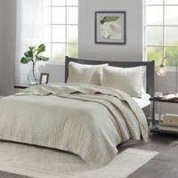 Madison Park Keaton King/California King Coverlet Set in Khaki