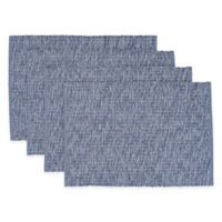Casual Twist Rib Placemats in Navy (Set of 4)