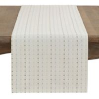 Stitched Line 72-Inch Table Runner in White