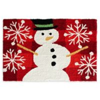 "Christmas Rugs 30"" X 20"" Snowman Woven Accent Rug"