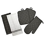 5-Piece Quilted Kitchen Linen Set in Grey