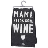 """Primitives by Kathy® """"Mama Wine"""" Kitchen Towel in White"""
