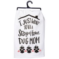 """Primitives by Kathy® """"Dog Mom"""" Kitchen Towel in White"""