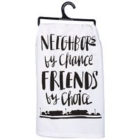 """Primitives by Kathy® """"Neighbors"""" Kitchen Towel in White"""
