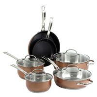 Oneida® 10-Piece Stainless Steel Cookware Set in Copper